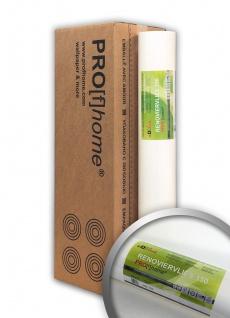 Profhome Renoviervlies 150 g Malervlies Vlies glatte überstreichbare reißfeste Vliestapete weiß | 1 Kart. 4 Rollen 75 qm