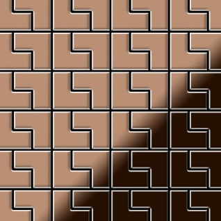 Mosaik Fliese massiv Metall Kupfer gewalzt in kupfer 1, 6mm stark ALLOY Kink-CM Designed by Karim Rashid 0, 93 m2