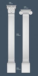 Pilaster Stuck Orac Dekor K254 LUXXUS Sockel Stuck Dekor Element aus leichtem stabilem Hartschaum weiß | 53 cm - Vorschau 3
