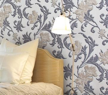 Blumen Tapete XXL Vliestapete EDEM 992-31 Florales Muster geprägte Struktur Luxus Design Tapete creme gold grau 10, 65 m2 - Vorschau 3