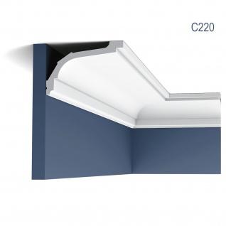 Stuckleiste Orac Decor C220 LUXXUS Eckleiste Zierleiste Decken Stuckgesims Wand Dekor Profil Dekorleiste 2 Meter