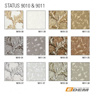 Uni Tapete EDEM 9011-37 Vliestapete geprägt in Spachteloptik glänzend creme weiß silber 10, 65 m2 - Vorschau 4