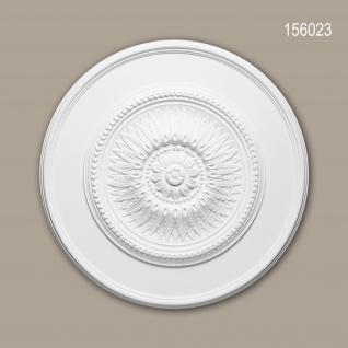 Rosette PROFHOME 156023 Zierelement Deckenelement Neo-Klassizismus-Stil weiß Ø 59, 0 cm