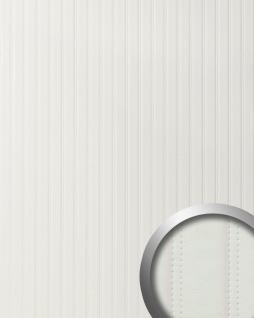 Wandpaneel Leder Design gesteppt Wandplatte WallFace 18601 LOUNGE Wandverkleidung selbstklebend matt-weiß 2, 60 qm