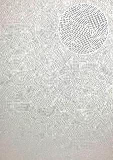 Grafik Tapete ATLAS XPL-590-6 Vliestapete strukturiert mit geometrischen Formen schimmernd creme licht-grau grau-weiß 5, 33 m2