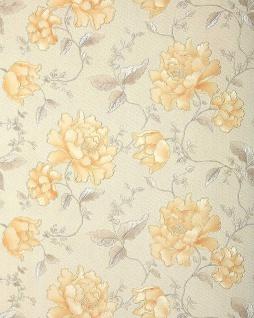 3D Blumentapete Floral Tapete EDEM 748-30 3D Luxus Präge TAPETE creme elfenbein platin-grau gold blumen