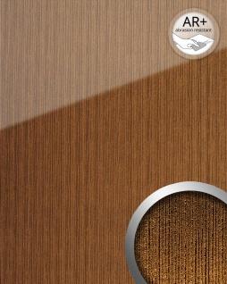 Wandpaneel Glas-Optik WallFace 20218 ALIGNED Gold AR+ Wandverkleidung glatt in Hochglanz-Optik spiegelnd selbstklebend abriebfest gold gold-braun 2, 6 m2