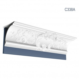 Stuck Wandleiste Orac Decor C338A LUXXUS Eckleiste Zierleiste Profilleiste Stuckleiste Deckenprofil 2 Meter
