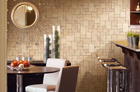 3D Stein Vliestapete EDEM 957-28 XXL stone cubes geprägte Mosaik-Stein Naturstein Optik grün-grau 10, 65 qm - Vorschau 2