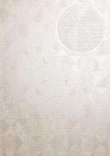 Ton-in-Ton Tapete ATLAS XPL-592-2 Vliestapete strukturiert mit geometrischen Formen schimmernd creme weiß perl-weiß elfenbein 5, 33 m2