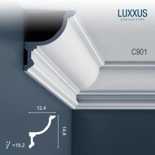 Stuck Zierleiste Orac Decor C901 LUXXUS Eckleiste für indirekte Beleuchtung Eckleiste Gesims | 2 Meter