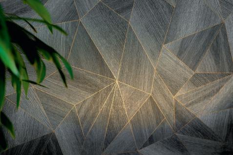 Grafik Tapete Profhome 361333-GU Vliestapete glatt mit grafischem Muster matt grau schwarz 5, 33 m2 - Vorschau 3