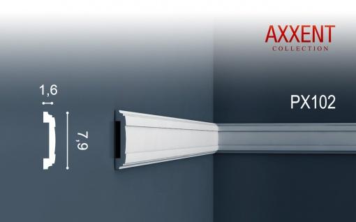 Friesleiste Stuck Profil Orac Decor PX102 AXXENT Wandleiste Zierleiste Profilleiste Wand Rahmen Dekor Element | 2 Meter