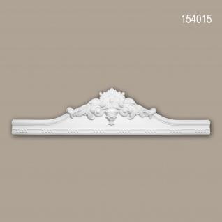 Pediment PROFHOME 154015 Türumrandung Rokoko Barock Stil weiß