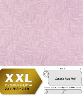 Grafik Vliestapete EDEM 913n-22 XXL abstraktes Textilgewebe Flechtwerk Tapete silber flieder 10, 65 qm