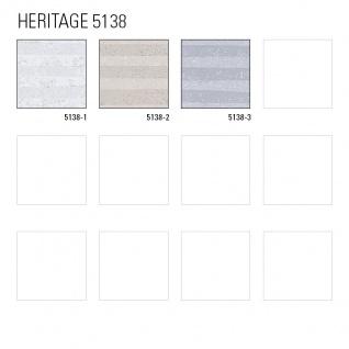 Grafik Tapete ATLAS HER-5138-3 Vliestapete geprägt mit Streifen schimmernd elfenbein perl-hell-grau silber 7, 035 m2 - Vorschau 4