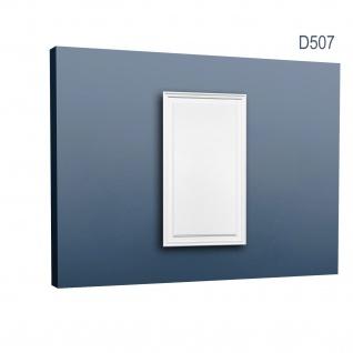 Türaufdopplung abgeplattet von Orac Decor D507 LUXXUS Paneel Dekor Element Verkleidung Kunstoffplatte weiß