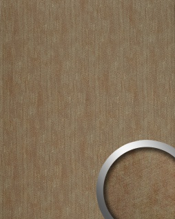 Wandpaneel Metalloptik WallFace 20195 METALLIC USED Sand AR Wandverkleidung glatt im Used Look und mit metallischen Akzenten selbstklebend abriebfest grau sand 2, 6 m2