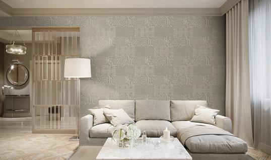 Barock Tapete Profhome VD219148-DI heißgeprägte Vliestapete geprägt im Barock-Stil glänzend beige taupe 5, 33 m2 - Vorschau 2