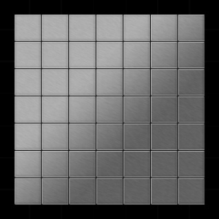 Mosaik Fliese massiv Metall Edelstahl marine gebürstet in grau 1, 6mm stark ALLOY Attica-S-S-MB 0, 85 m2 - Vorschau 3