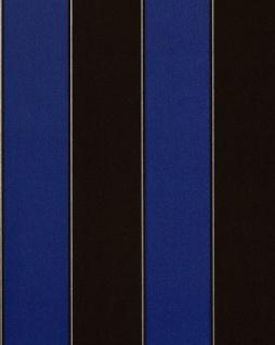 Streifen Tapete EDEM 771-37 Vinyl Tapete Luxus Hochwertig Barock dunkel-braun royal-blau silber