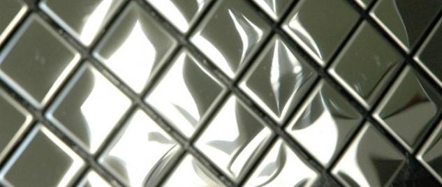 Mosaik Fliese massiv Metall Edelstahl hochglänzend in grau 1, 6mm stark ALLOY Diamond-S-S-M 0, 91 m2 - Vorschau 5