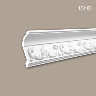 Eckleiste PROFHOME 150166 Zierleiste Stuckleiste Rokoko Barock Stil weiß 2 m