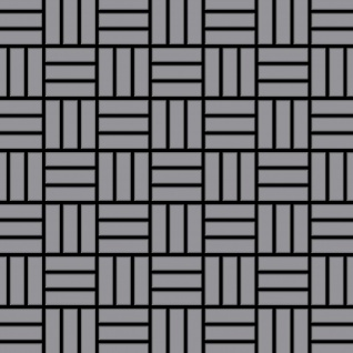 Mosaik Fliese massiv Metall Edelstahl matt in grau 1, 6mm stark ALLOY Basketweave-S-S-MA 0, 82 m2