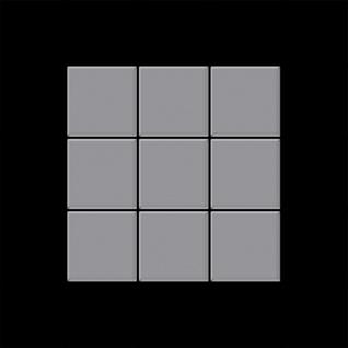 Mosaik Fliese massiv Metall Edelstahl matt in grau 1, 6mm stark ALLOY Century-S-S-MA 0, 5 m2 - Vorschau 3