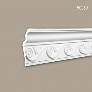 Eckleiste PROFHOME 150250 Zierleiste Stuckleiste Neo-Klassizismus-Stil weiß 2 m