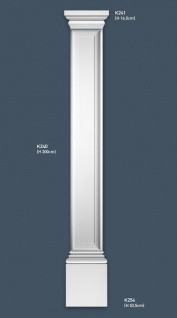 Pilaster Stuck Orac Dekor K254 LUXXUS Sockel Stuck Dekor Element aus leichtem stabilem Hartschaum weiß | 53 cm - Vorschau 2