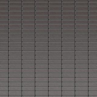 Mosaik Fliese massiv Metall Titan gebürstet in dunkelgrau 1, 6mm stark ALLOY Cabin-Ti-SB 1, 01 m2