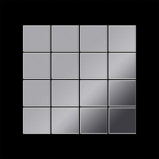 Mosaik Fliese massiv Metall Edelstahl hochglänzend in grau 1, 6mm stark ALLOY Cinquanta-S-S-M 0, 94 m2 - Vorschau 3