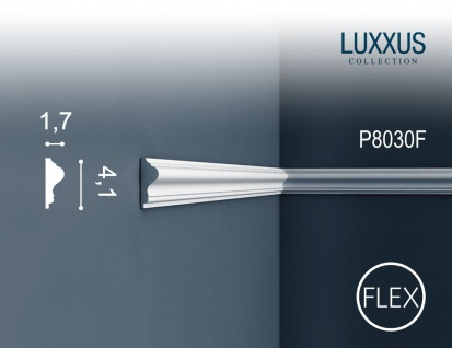 Orac Decor P8030F LUXXUS flexible Wand Leiste Stuckprofil Friesleiste Rahmen Dekor Profil FLEX Leiste stoßfest | 2 Meter