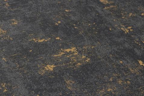 Stein Kacheln Tapete Profhome 230782-GU Vliestapete leicht strukturiert in Steinoptik matt schwarz gold 5, 33 m2 - Vorschau 3