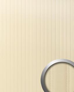 Wandpaneel Leder Design gesteppt Wandplatte WallFace 18602 LOUNGE Wandverkleidung selbstklebend creme beige | 2, 60 qm