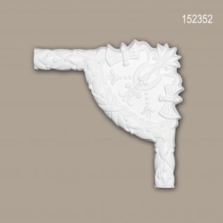 Eckelement PROFHOME 152352 Zierelement Rokoko Barock Stil weiß