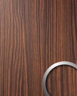 Wandverkleidung Wandpaneel Holzoptik WallFace 12441 WOOD MAKASSAR Kunststoff selbstklebend braun | 2, 60 qm