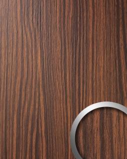 Wandverkleidung Wandpaneel Holzoptik WallFace 12441 WOOD MAKASSAR Kunststoff selbstklebend braun 2, 60 qm
