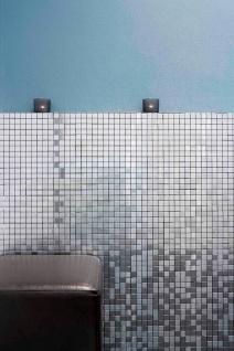Mosaik Fliese massiv Metall Edelstahl marine gebürstet in grau 1, 6mm stark ALLOY Mosaic-S-S-MB 1, 04 m2 - Vorschau 5