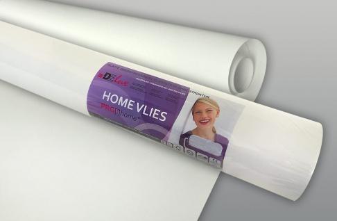 HomeVlies 120 g überstreichbare Vliestapete für glatte saubere Wände Renoviervlies Malervlies Glattvlies weiß | 25 qm