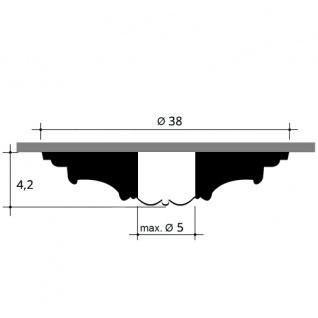Rosette Stuck Orac Decor R08 Deckenrosette Stuckrosette Gesims klassisch schön ring Dekor weiß | 38 cm Durchmesser - Vorschau 2