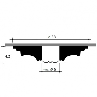 Rosette Stuck Orac Decor R08 Deckenrosette Stuckrosette Gesims klassisch schön ring Dekor weiß 38 cm Durchmesser - Vorschau 2