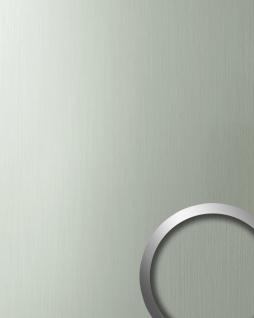 Wandpaneel Metall-Optik matt-glänzend WallFace 10199 DECO HGS Wandverkleidung selbstklebend edelstahl grau 2, 60 qm