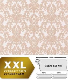 3D Barock Vliestapete XXL EDEM 696-93 Tapete klassischer Stil mit Schnörkeln XXL hell braun beige | 10, 65 qm