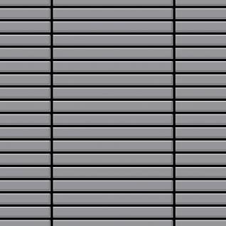 Mosaik Fliese massiv Metall Edelstahl matt in grau 1, 6mm stark ALLOY Linear-S-S-MA 0, 94 m2