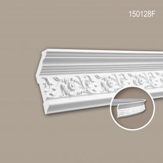 Eckleiste PROFHOME 150128F Zierleiste Flexible Leiste Stuckleiste Zeitloses Klassisches Design weiß 1, 97 m