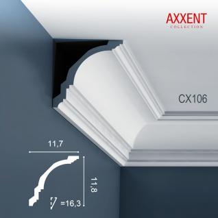 Zierleiste Profilleiste Orac Decor CX106 AXXENT Stuck Profil Eckleiste Wand Leiste Decken Leiste | 2 Meter