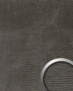 Wandverkleidung Leder Optik WallFace 19779 Antigrav LEGUAN Nero Wandpaneel glatt in Leguanleder Optik matt schwarz 2, 6 m2