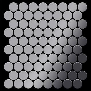 Mosaik Fliese massiv Metall Edelstahl hochglänzend in grau 1, 6mm stark ALLOY Dollar-S-S-M 0, 88 m2 - Vorschau 3